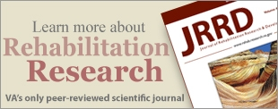 Learn more about Rehabilitation Research, VA's only peer-reviewed scientific journal
