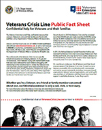 Veterans Crisis Line resource brochure