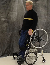 Innovative wheelchair enables paralyzed Vets to stand -