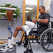Columbus Freeman of Arkansas, who served 17 years in the National Guard, underwent two amputations on his left leg—first below the knee, and then above—as the result of vascular blockages. A new VA-DoD study is looking at the long-term outcomes of Veterans who suffered severe vascular injuries but did not have their limb amputated.