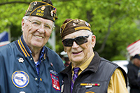 two male senior veterans
