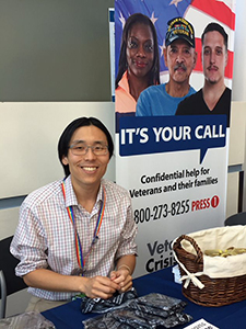 Dr. Jason Chen is leading a study that aims to promote social connectedness among Veterans at high risk of suicide by increasing their participation in community activities. (Photo courtesy of Jason Chen)