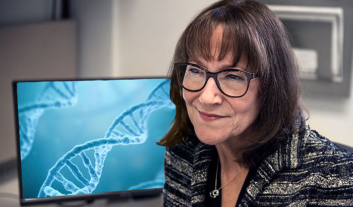 Pictured: Dr. Sara Knight studies genomics and personalized medicine, among other areas, at the VA Salt Lake City Health Care System and the University of Utah. (Photo by Tod Peterson)