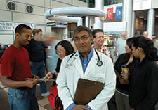 Dr. Somnath Saha is a staff physician and researcher at the VA Portland Health Care System. (Photo by Michael Moody) >