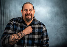 Ray Perez is a peer support specialist with the Veterans Justice Outreach (VJO) program at the Phoenix VA. (Photo by Stacy Jonsgaard)