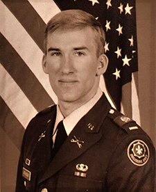 David Atkinson, a West Point graduate, served in a combat role during the Persian Gulf War.