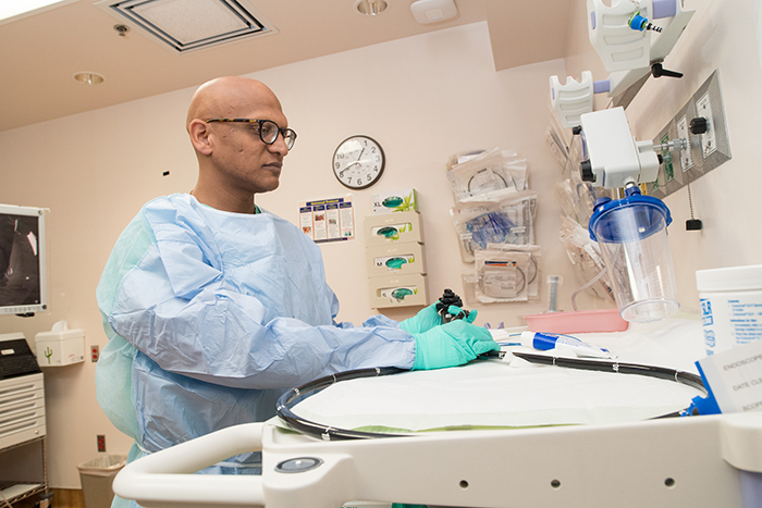 Study co-author Dr. Samir Gupta, chief of gastroenterology at the VA San Diego Healthcare System, says some patients and primary care providers misunderstand the results of abnormal stool blood screening tests. (Photo by Christopher Menzie)