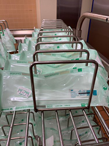 Cleaned, sterilized, and bagged testing swabs ready for use in the VA health care system. (Photo by Bill George)