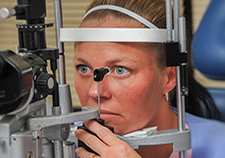 Eye doctors use a variety of tests to catch signs of glaucoma. Early detection and prompt treatment can prevent vision loss, but the condition is chronic and must be monitored for life. <em>(Photo by Steven E. Smith) </em>