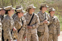 A recent VA study was the first to assess the prevalence of posttraumatic stress disorder in women Veterans from all eras, including both VA patients and those who receive their health care outside VA. In the above 2007 photo, female troops take part in a training session in Iraq. (Photo by Sgt. James R. Richardson, USMC)