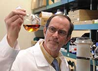 Infection protection-Dr. Michael Riscoe and colleagues are developing a new drug to treat malaria. (Photo by Michael Moody)