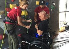 Adaptive rock climbing has physical, psychological benefits for people with disabilities