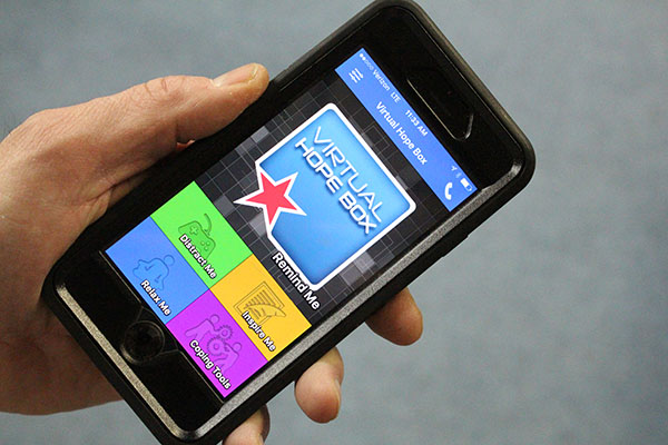 Virtual Hope Box smartphone app to prevent suicide