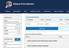 The web-based Clinical Trials Selector app is live and in alpha testing. Veterans and Medicare beneficiaries can use the app to find research studies related to their medical conditions.