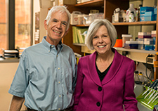 Dr. Ann Richmond (right) was nominated for VA's Middleton Award by Dr. Donald Rubin (left), associate chief of staff for research at the VA Tennessee Valley Healthcare System's Nashville campus and a professor at Vanderbilt University. <em>(Photo by Daniel Dubois) </em>