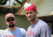 Team Rubicon co-founder and former Marine Jake Wood (R) with Air Force Veteran Brian Meagher, who now works for TR, in Rockport, Texas, following Hurricane Harvey. There's such a pride in belonging that comes with participation in Team Rubicon,