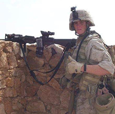 Matthew Smith in Haditha, Iraq, in 2006. (Photo courtesy of Matthew Smith)