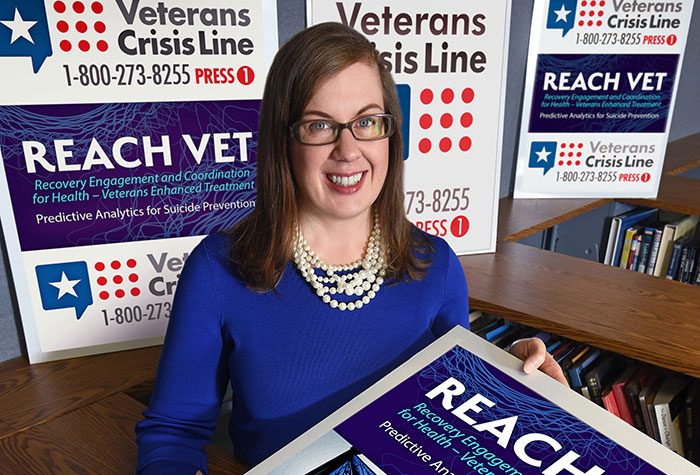 Dr. Sara Landes, a psychologist at the Central Arkansas Veterans Healthcare System, is leading a study to examine the implementation of REACH VET. (Photo by Jeff Bowen)
