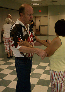 Bill Barsin has taken part in tango classes at the Atlanta VAMC to help his Parkinson's symptoms. <em>(Photo courtesy of Dr. Madeleine Hackney)</em>