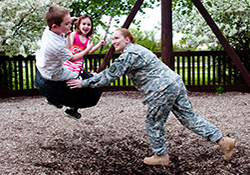 Children of deployed parents at increased risk for behavioral, psychological problems