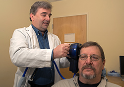 Can magnetic coil ease tinnitus? VA trial aims to find ou