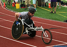 Cooper competes at the National Veterans Wheelchair Games in July 2017.