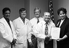 Dr. Sol Solomon, chief of endocrinology and metabolism at the Memphis VA Medical Center, received an award in 2007 for 40 years of federal service.