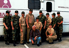 In 2005, Karen Lohmann Siegel (standing second from right) led one of several U.S. Public Health Service teams that delivered health care to Florida communities that were affected by Hurricane Wilma.