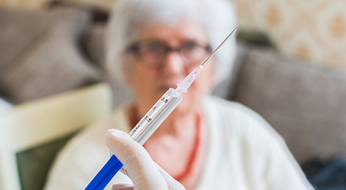 Flu vaccine for nursing home residents