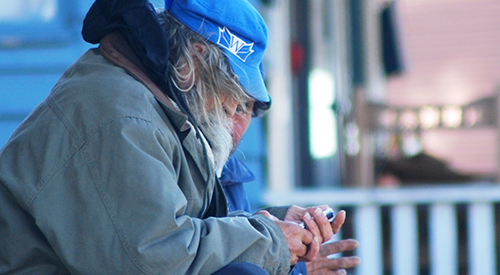 Reaching the homeless through mobile phones