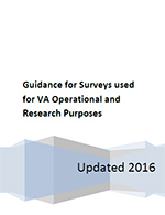 Guidance for Surveys used for VA Operational and Research Purposes
