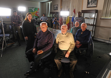 These World War II Veterans, all of whom fought in the Battle of the Bulge, were interviewed by a media crew at Fort Meade in 2014, for the 70<sup>th</sup> anniversary of the battle.