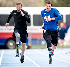 Service members compete in the 2010 Warrior Games in Colorado Springs, Colo. <em>(Photo by Tech. Sgt. Samuel Bendet/USAF)</em>