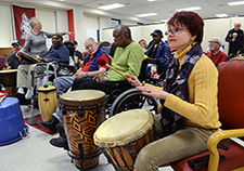Residents of VA's Little Rock (Ark.) community living center take part in a therapeutic