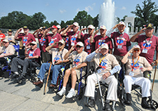 These older Veterans visited the World War II Memorial in Washington, D.C., in 2015, with help from the Greater St. Louis Honor Flight.