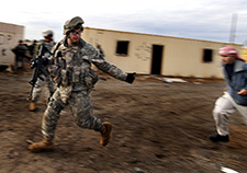 Iowa Army National Guard soldiers take part in a training exercise at Fort Dix, N.J., in 2008.