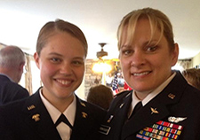 Tracy P., a retired lieutenant colonel, and her daughter, from the
