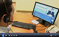 Watch study participant Adam Navarro-Lowery interact with virtual job interviewer Molly Porter. (Video by Oscar Bedolla)