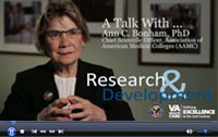 Click to watch the video, A Talk with Ann Bonham, PhD