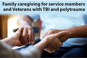 Infographic: Family caregiving for service members and Veterans with TBI and polytrauma